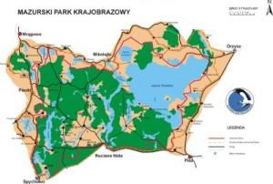 Karte Masuren