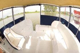 Hausboote in Masuren- das Innere