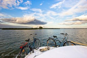 Radtour Masuren, hausboot und Rad Masuren